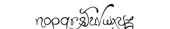 Edward's Wedding Font LOWERCASE