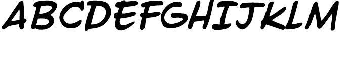 Ed McGuinness Bold Italic Font UPPERCASE