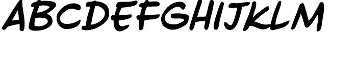 Ed McGuinness Bold Italic Font LOWERCASE