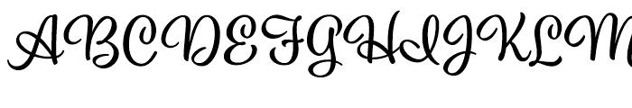 Eds Market Upright Script Font UPPERCASE