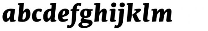 Edit Serif Cyrillic Extra Bold Italic Font LOWERCASE