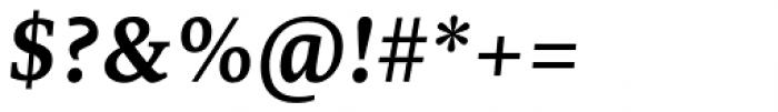 Edit Serif Cyrillic Semi Bold Italic Font OTHER CHARS