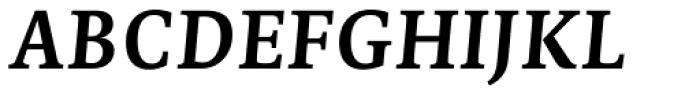 Edit Serif Cyrillic Semi Bold Italic Font UPPERCASE