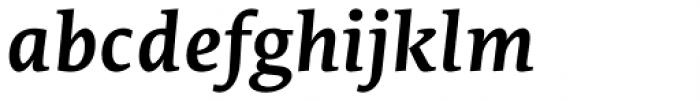 Edit Serif Cyrillic Semi Bold Italic Font LOWERCASE
