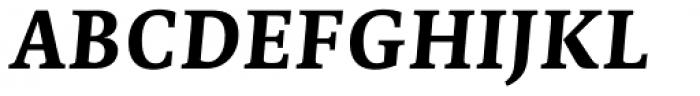 Edit Serif Pro Bold Italic Font UPPERCASE