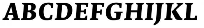 Edit Serif Pro Extra Bold Italic Font UPPERCASE