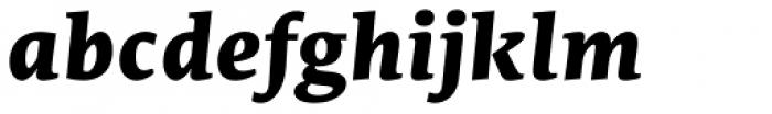 Edit Serif Pro Extra Bold Italic Font LOWERCASE