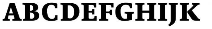Edit Serif Pro Extra Bold Font UPPERCASE