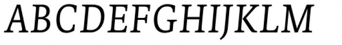 Edit Serif Pro Extra Light Italic Font UPPERCASE