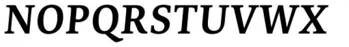 Edit Serif Pro Semi Bold Italic Font UPPERCASE