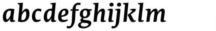 Edit Serif Pro Semi Bold Italic Font LOWERCASE