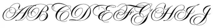 Edwardian Script Pro Regular Font UPPERCASE