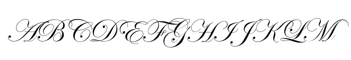 Edwardian Script ITC Font UPPERCASE