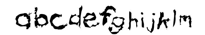 Eeewwww Messy Boy Font LOWERCASE