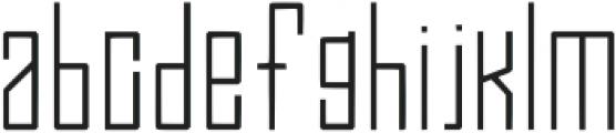 Efesto Regular otf (400) Font LOWERCASE