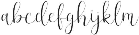 Effort Regular otf (400) Font LOWERCASE