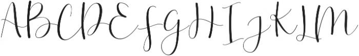 Effort Regular ttf (400) Font UPPERCASE