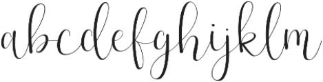 Effort Regular ttf (400) Font LOWERCASE