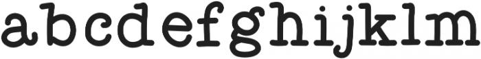 Effortless otf (400) Font LOWERCASE