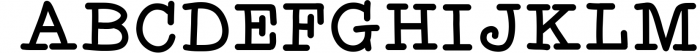 Effortless - A Typewriter Font Font UPPERCASE