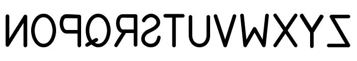 EFITYPE REVERSE Regular Font LOWERCASE
