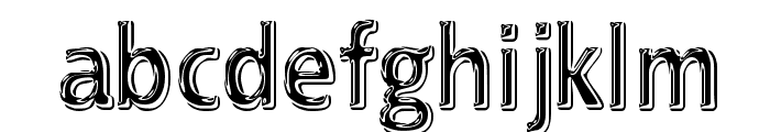 EFN Black Chrome Font LOWERCASE