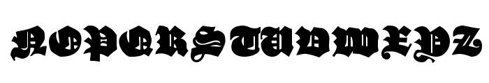 EFN Czarny Font UPPERCASE