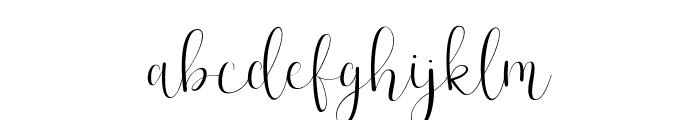 Effort-Regular Font LOWERCASE