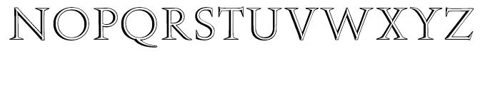 EF Augustea Open Regular Font UPPERCASE