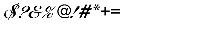 EF Ballantines Script CE Bold Font OTHER CHARS