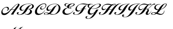 EF Ballantines Script CE Bold Font UPPERCASE