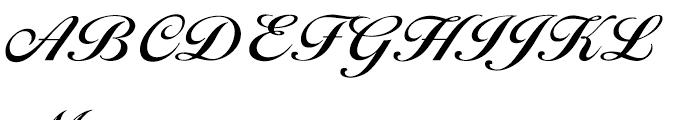 EF Ballantines Script CE Demi Bold Font UPPERCASE
