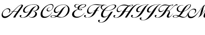 EF Ballantines Script CE Medium Font UPPERCASE