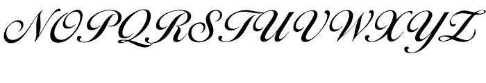 EF Ballantines Script Turkish Medium Font UPPERCASE