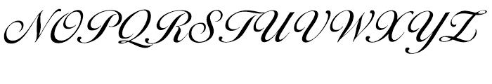 EF Ballantines Script Turkish Regular Font UPPERCASE