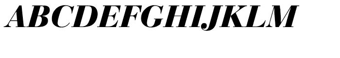 EF Bauer Bodoni Bold Italic Font UPPERCASE