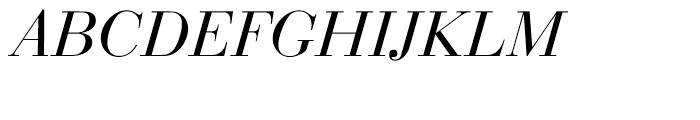 EF Bauer Bodoni CE Regular Italic Font UPPERCASE