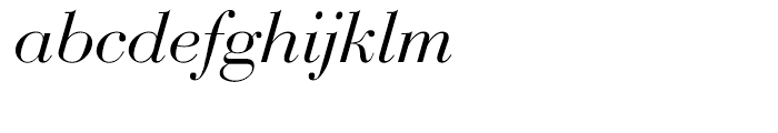 EF Bauer Bodoni CE Regular Italic Font LOWERCASE