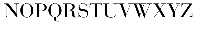 EF Bauer Bodoni CE Regular Font UPPERCASE
