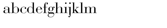 EF Bauer Bodoni CE Regular Font LOWERCASE
