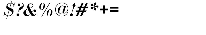 EF Bauer Bodoni Medium Italic Font OTHER CHARS