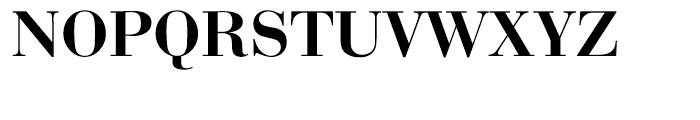 EF Bauer Bodoni Medium Font UPPERCASE
