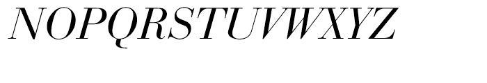 EF Bauer Bodoni Turkish Regular Italic Font UPPERCASE