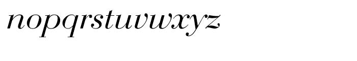 EF Bauer Bodoni Turkish Regular Italic Font LOWERCASE