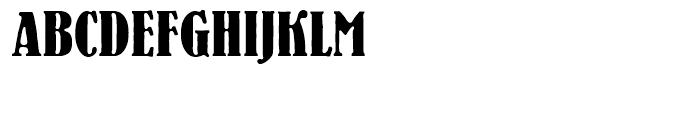 EF Bernhard Antique Regular Font UPPERCASE