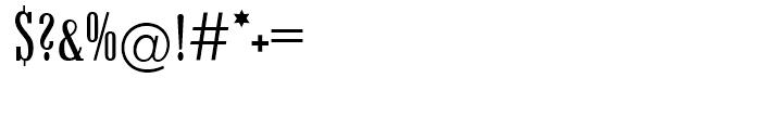 EF Candida Regular Condensed Font OTHER CHARS