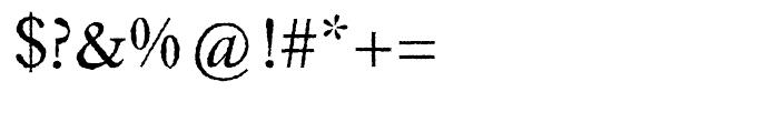 EF Caslon Rough H Regular Font OTHER CHARS