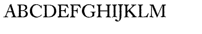 EF Caslon Rough H Regular Font UPPERCASE