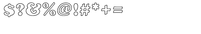EF Cooper Black CE Bold Outline Font OTHER CHARS