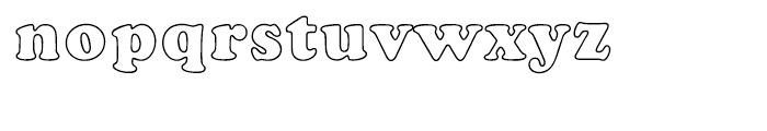 EF Cooper Black CE Bold Outline Font LOWERCASE